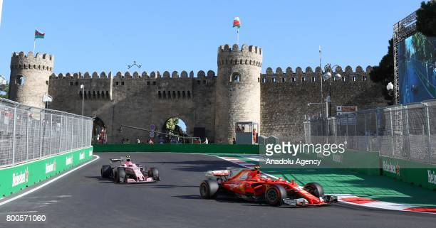 Kimi Raikkonen of Ferrari attends free practice of 2017 Formula 1 Azerbaijan Grand Prix in Baku Azerbaijan on June 24 2017 Formula 1 Grand Prix will...