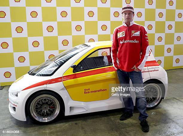 Kimi Raikkonen of Finland and Ferrari at the Shell Eco Marathon event during the Formula One Grand Prix of Mexico at Autodromo Hermanos Rodriguez on...