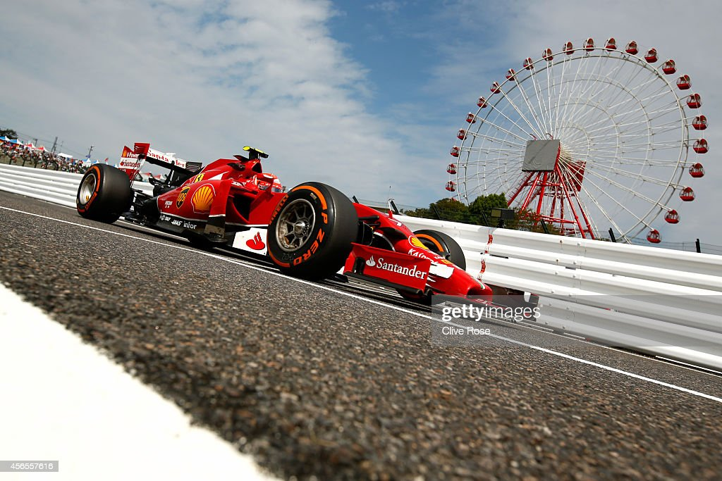 Kimi Raikkonen of Finland and Ferrari drives during practice for the Japanese Formula One Grand Prix at Suzuka Circuit on October 3, 2014 in Suzuka, Japan.
