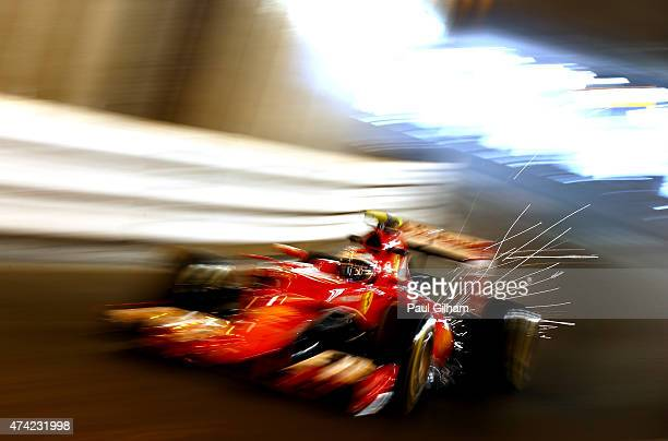 Kimi Raikkonen of Finland and Ferrari drives during practice for the Monaco Formula One Grand Prix at Circuit de Monaco on May 21 2015 in MonteCarlo...