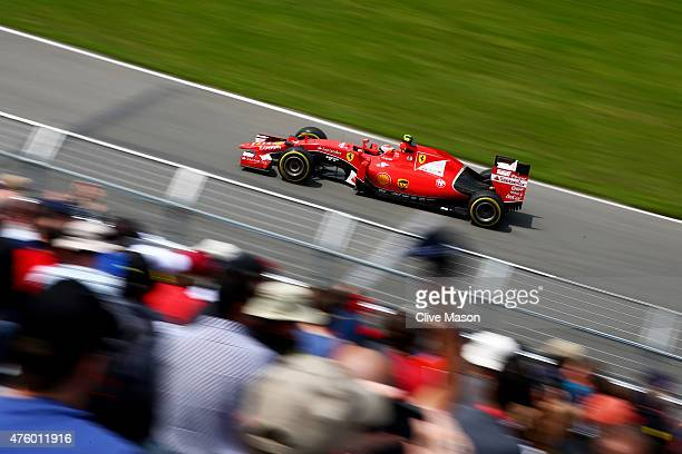 Kimi Raikkonen of Finland and Ferrari drives during practice for the Canadian Formula One Grand Prix at Circuit Gilles Villeneuve on June 5 2015 in...