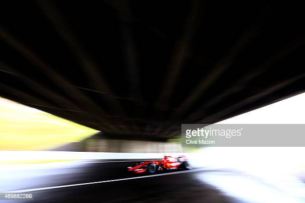Kimi Raikkonen of Finland and Ferrari drives during practice for the Formula One Grand Prix of Japan at Suzuka Circuit on September 25 2015 in Suzuka