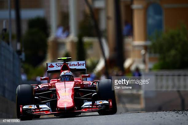 Kimi Raikkonen of Finland and Ferrari drives during the Monaco Formula One Grand Prix at Circuit de Monaco on May 24 2015 in MonteCarlo Monaco