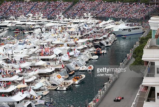 Kimi Raikkonen of Finland and Ferrari drives during the Monaco Formula One Grand Prix at Circuit de Monaco on May 25 2014 in MonteCarlo Monaco