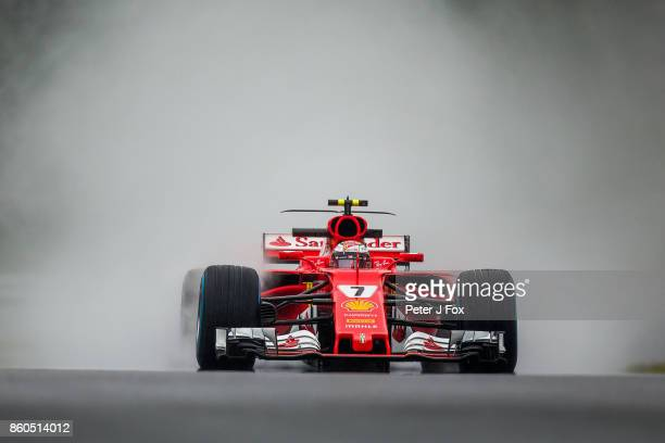 Kimi Raikkonen of Finland and Ferrari during qualifying for the Formula One Grand Prix of Japan at Suzuka Circuit on October 7 2017 in Suzuka
