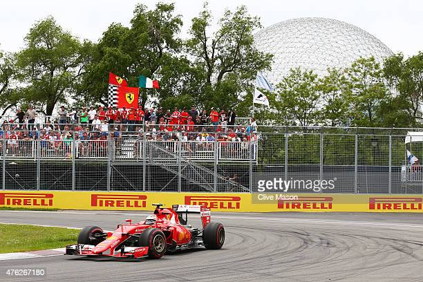 Kimi Raikkonen of Finland and Ferrari during the Canadian Formula One Grand Prix at Circuit Gilles Villeneuve on June 7 2015 in Montreal Canada
