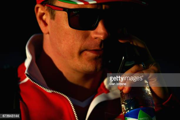 Kimi Raikkonen of Finland and Ferrari walks in the Paddock during previews to the Formula One Grand Prix of Russia on April 27 2017 in Sochi Russia