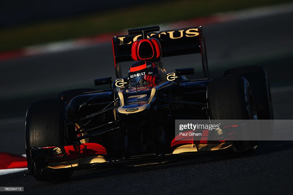 Kimi Raikkonen of Finland and Lotus drives during day two of Formula One winter test at the Circuit de Catalunya on February 20, 2013 in Montmelo, Spain.