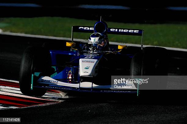 Kimi Raikkonen of Finland drives the Red Bull Sauber Petronas Sauber C20 Petronas 01A during the Italian Grand Prix on 16th September 2001 at the...