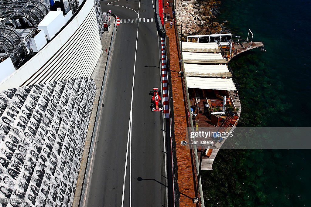 Kimi Raikkonen of Finland drives the Scuderia Ferrari SF16-H Ferrari 059/5 turbo during final practice ahead of the Monaco Formula One Grand Prix at Circuit de Monaco on May 28, 2016 in Monte-Carlo, Monaco.