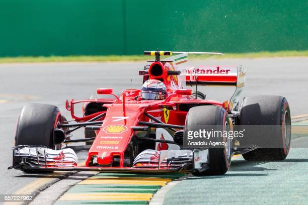 Kimi Raikkonen of Finland driving for Scuderia Ferrari on Friday Free Practice during the 2017 Rolex Australian Formula 1 Grand Prix at Albert Park...