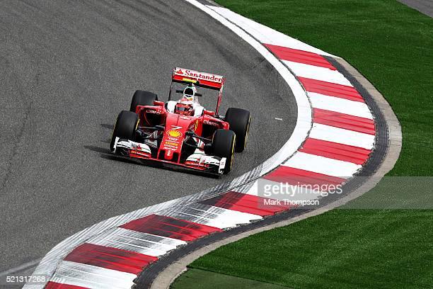 Kimi Raikkonen of Finland driving the Scuderia Ferrari SF16H Ferrari 059/5 turbo on track during practice for the Formula One Grand Prix of China at...