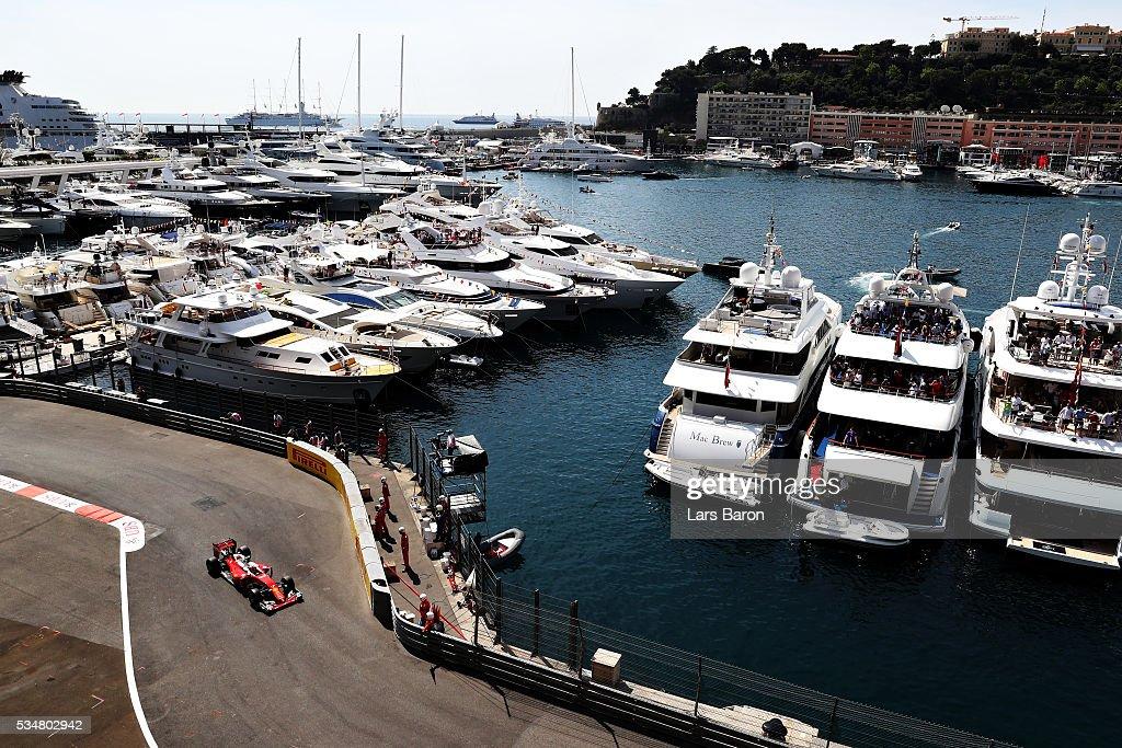 <a gi-track='captionPersonalityLinkClicked' href=/galleries/search?phrase=Kimi+Raikkonen&family=editorial&specificpeople=201904 ng-click='$event.stopPropagation()'>Kimi Raikkonen</a> of Finland driving the (7) Scuderia Ferrari SF16-H Ferrari 059/5 turbo (Shell GP) on track during final practice ahead of the Monaco Formula One Grand Prix at Circuit de Monaco on May 28, 2016 in Monte-Carlo, Monaco.
