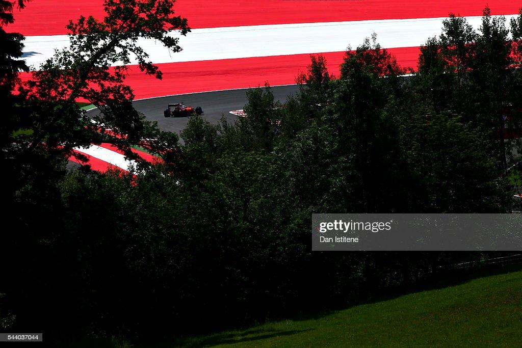 <a gi-track='captionPersonalityLinkClicked' href=/galleries/search?phrase=Kimi+Raikkonen&family=editorial&specificpeople=201904 ng-click='$event.stopPropagation()'>Kimi Raikkonen</a> of Finland driving the (7) Scuderia Ferrari SF16-H Ferrari 059/5 turbo (Shell GP) on track during practice for the Formula One Grand Prix of Austria at Red Bull Ring on July 1, 2016 in Spielberg, Austria.