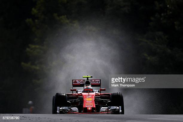 Kimi Raikkonen of Finland driving the Scuderia Ferrari SF16H Ferrari 059/5 turbo on track during qualifying for the Formula One Grand Prix of Hungary...