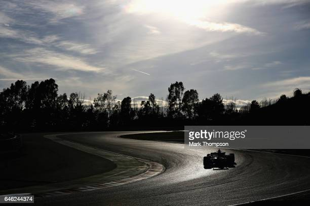 Kimi Raikkonen of Finland driving the Scuderia Ferrari SF70H on track during day two of Formula One winter testing at Circuit de Catalunya on...