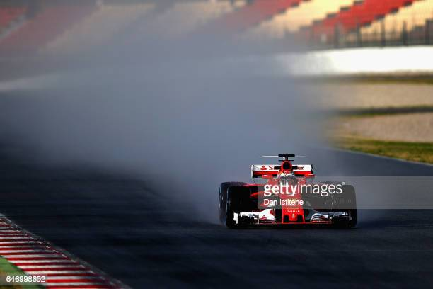 Kimi Raikkonen of Finland driving the Scuderia Ferrari SF70H on track during day four of Formula One winter testing at Circuit de Catalunya on March...