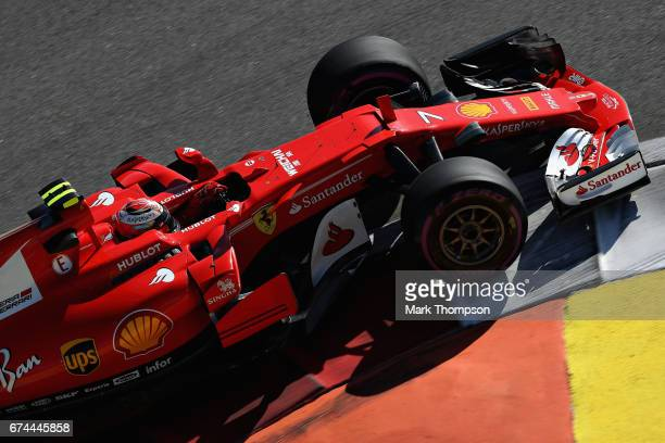 Kimi Raikkonen of Finland driving the Scuderia Ferrari SF70H on track during practice for the Formula One Grand Prix of Russia on April 28 2017 in...