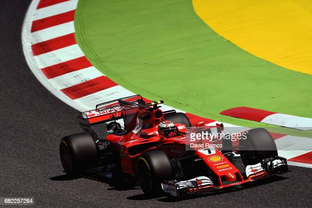 Kimi Raikkonen of Finland driving the Scuderia Ferrari SF70H on track during practice for the Spanish Formula One Grand Prix at Circuit de Catalunya...