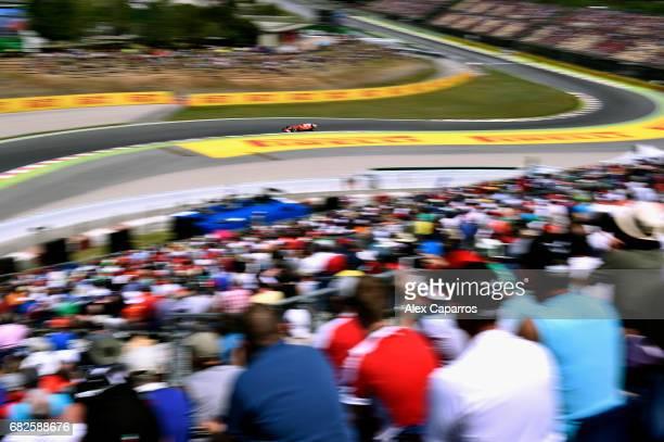 Kimi Raikkonen of Finland driving the Scuderia Ferrari SF70H on track during qualifying for the Spanish Formula One Grand Prix at Circuit de...
