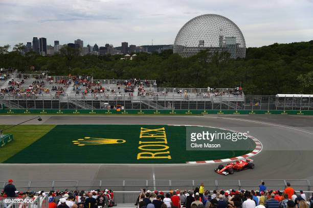 Kimi Raikkonen of Finland driving the Scuderia Ferrari SF70H on track during practice for the Canadian Formula One Grand Prix at Circuit Gilles...
