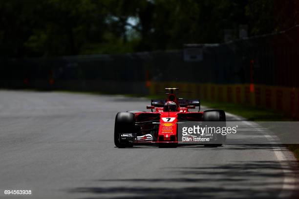Kimi Raikkonen of Finland driving the Scuderia Ferrari SF70H on track during qualifying for the Canadian Formula One Grand Prix at Circuit Gilles...