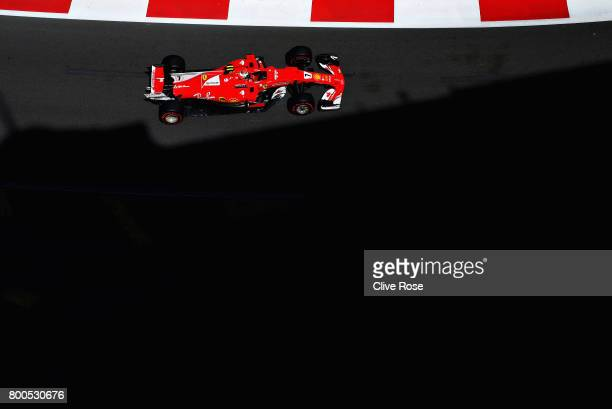 Kimi Raikkonen of Finland driving the Scuderia Ferrari SF70H on track during final practice for the Azerbaijan Formula One Grand Prix at Baku City...