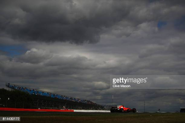 Kimi Raikkonen of Finland driving the Scuderia Ferrari SF70H on track during practice for the Formula One Grand Prix of Great Britain at Silverstone...