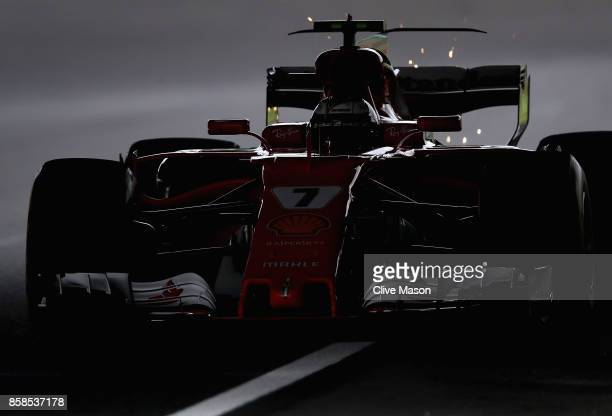 Kimi Raikkonen of Finland driving the Scuderia Ferrari SF70H on track during qualifying for the Formula One Grand Prix of Japan at Suzuka Circuit on...
