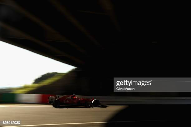 Kimi Raikkonen of Finland driving the Scuderia Ferrari SF70H on track during the Formula One Grand Prix of Japan at Suzuka Circuit on October 8 2017...