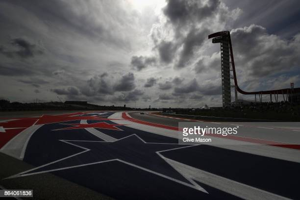 Kimi Raikkonen of Finland driving the Scuderia Ferrari SF70H on track during practice for the United States Formula One Grand Prix at Circuit of The...