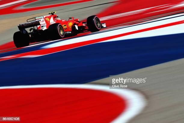 Kimi Raikkonen of Finland driving the Scuderia Ferrari SF70H on track during final practice for the United States Formula One Grand Prix at Circuit...