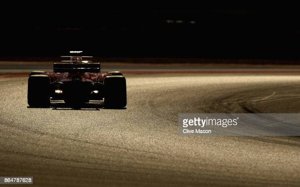 Kimi Raikkonen of Finland driving the Scuderia Ferrari SF70H on track during qualifying for the United States Formula One Grand Prix at Circuit of...