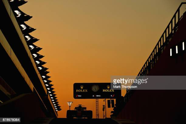 Kimi Raikkonen of Finland driving the Scuderia Ferrari SF70H on track during qualifying for the Abu Dhabi Formula One Grand Prix at Yas Marina...