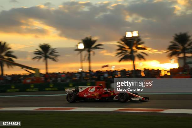 Kimi Raikkonen of Finland driving the Scuderia Ferrari SF70H on track during the Abu Dhabi Formula One Grand Prix