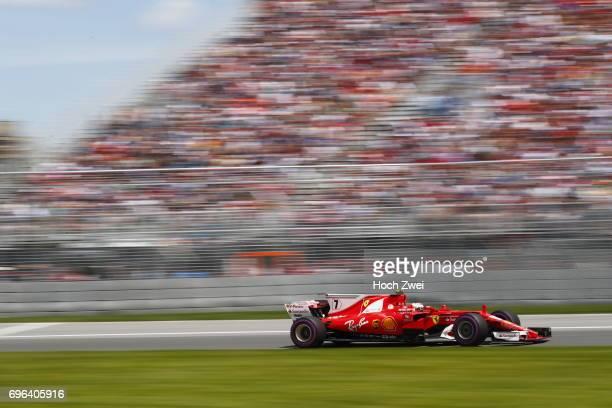 Kimi Raikkonen of Finland during the Canadian Formula One Grand Prix at Circuit GillesVilleneuve on June 10 2017 in Montreal Canada