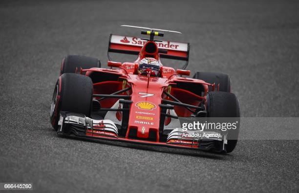 Kimi Raikkonen of Scuderia Ferrari on track during the Formula One Grand Prix of China at Shanghai International Circuit on April 9 2017 in Shanghai...