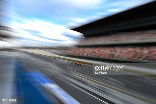 Kimi Raikkonen the Finnish pilot from Scuderia Ferrari in action during the Formula 1 tests in Barcelona on February 26 2015