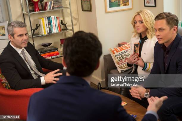 SCHMIDT 'Kimmy and the Trolley Problem' Episode 312 Pictured Andy Cohen as himself Jane Krakowski as Jacqueline White Billy Magnussen as Russ Snyder