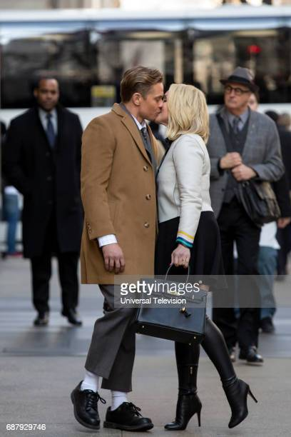 SCHMIDT 'Kimmy and the Trolley Problem' Episode 312 Pictured Billy Magnussen as Russ Snyder Jane Krakowski as Jacqueline White