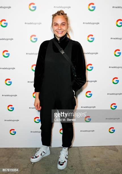 Kimmy Beatbox attends Google's Pixel 2 phone launch at The Old Selfridges Hotel on October 4 2017 in London England