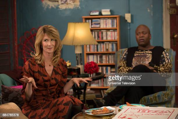 SCHMIDT 'Kimmy Cant Help You' Episode 303 Pictured Laura Dern as Wendy Hebert Tituss Burgess as Titus Andromedon