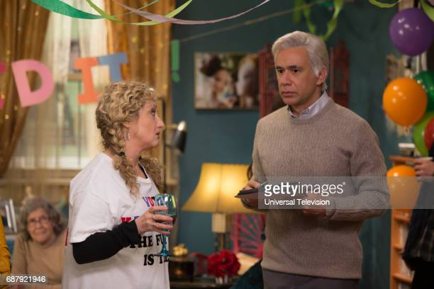 SCHMIDT 'Kimmy Gets Divorced' Episode 301 Pictured Carol Kane as Lillian Kaushtupper Fred Armisen as Robert Durst