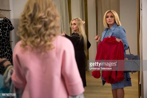 SCHMIDT 'Kimmy Goes to Church' Episode 309 Pictured Carol Kane as Lillian Kaushtupper Jane Krakowski as Jacqueline White