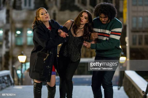 SCHMIDT 'Kimmy is a Feminist' Episode 306 Pictured Ellie Kemper as Kimmy Schmidt Dylan Gelula as Xanthippe Lannister Voorhees Daveed Diggs as Perry