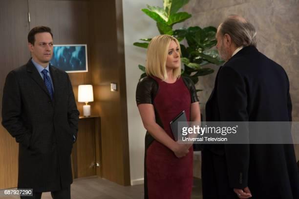SCHMIDT 'Kimmy Pulls Off a Heist' Episode 310 Pictured Josh Charles as Duke Snyder Jane Krakowski as Jacqueline White Harris Yulin as Orson