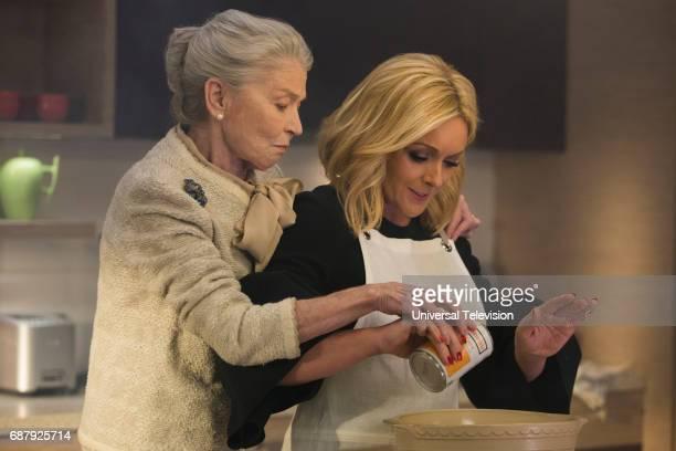SCHMIDT 'Kimmy Steps on a Crack' Episode 305 Pictured Phyllis Somerville as Meemaw Jane Krakowski as Jacqueline White