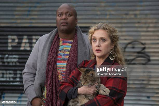 SCHMIDT 'Kimmy Steps on a Crack' Episode 305 Pictured Tituss Burgess as Titus Andromedon Carol Kane as Lillian Kaushtupper