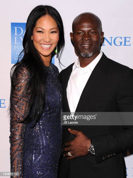 Kimora Lee Simmons and Djimon Hounso attend 3rd Annual 'Change Begins Within' Benefit Celebration at Los Angeles Times Central Court on December 3...