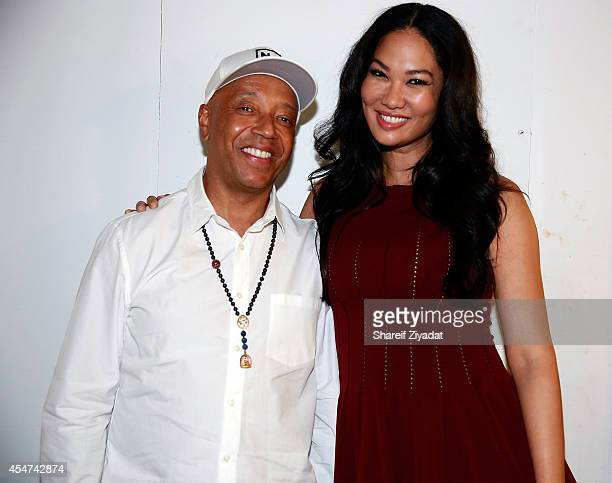 Kimora Lee Simmons and Russell Simmons attend the Argyleculture By Russell Simmons show at MercedesBenz Fashion Week Spring 2015 at Helen Mills Event...